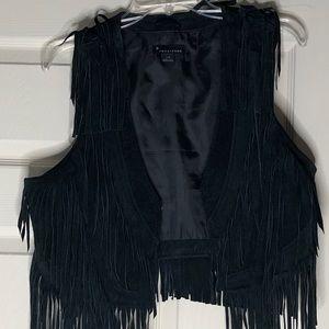 Forever 21 suede fringe vest